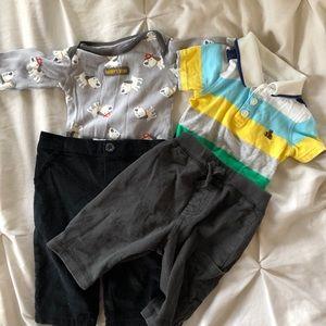 BOGO O-3 month size baby clothes bundle